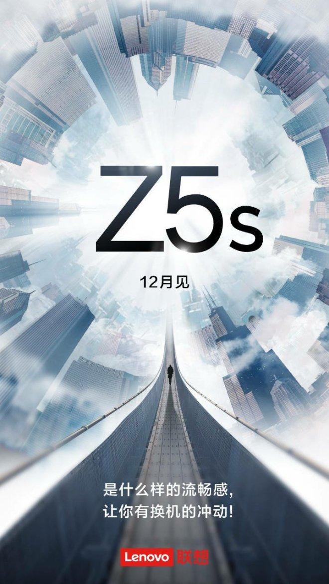 Lenovo Z5s new poster