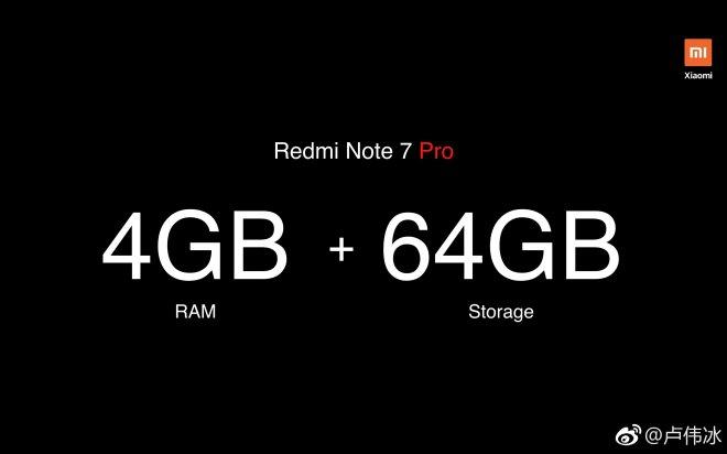 Redmi Note 7 Pro Storage