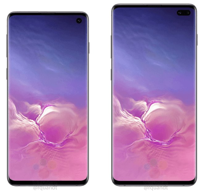 Samsung Galaxy S10 and S10 Plus images